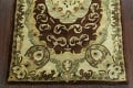 Victorian Style Aubusson Brown Runner Rug 3x9 image 7