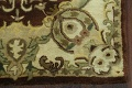 Victorian Style Aubusson Brown Runner Rug 3x9 image 5