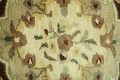 Victorian Style Aubusson Brown Runner Rug 3x9 image 9