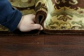 Victorian Style Aubusson Brown Runner Rug 3x9 image 16
