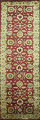 Floral Red Agra Oriental Runner Rug 3x9 image 1