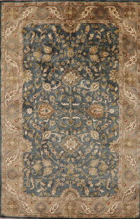 All-Over Floral Teal Agra Oriental Area Rug 5x8