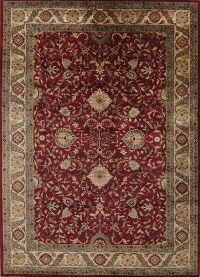 All-Over Floral Red Agra Oriental Area Rug 10x14