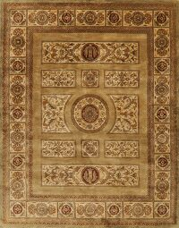 Victorian Style Gold Agra Oriental Area Rug 8x10