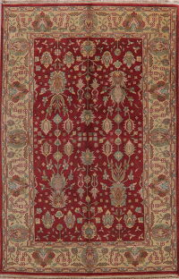 Floral Red Oushak Oriental Area Rug 6x9