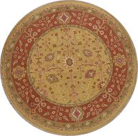 All-Over Floral Sumak Oriental Area Rug 8x8 Round