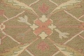 All-Over Green Floral Sumak Oriental Area Rug 8x8 Roud image 10