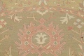All-Over Green Floral Sumak Oriental Area Rug 8x8 Roud image 11