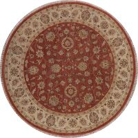 All-Over Floral Agra Oriental Area Rug 8x8 Round