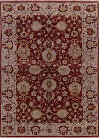 All-Over Red Floral Oushak Oriental Area Rug 9x11