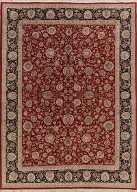 Wool & Silk Red Aubusson Chinese Area Rug 8x11