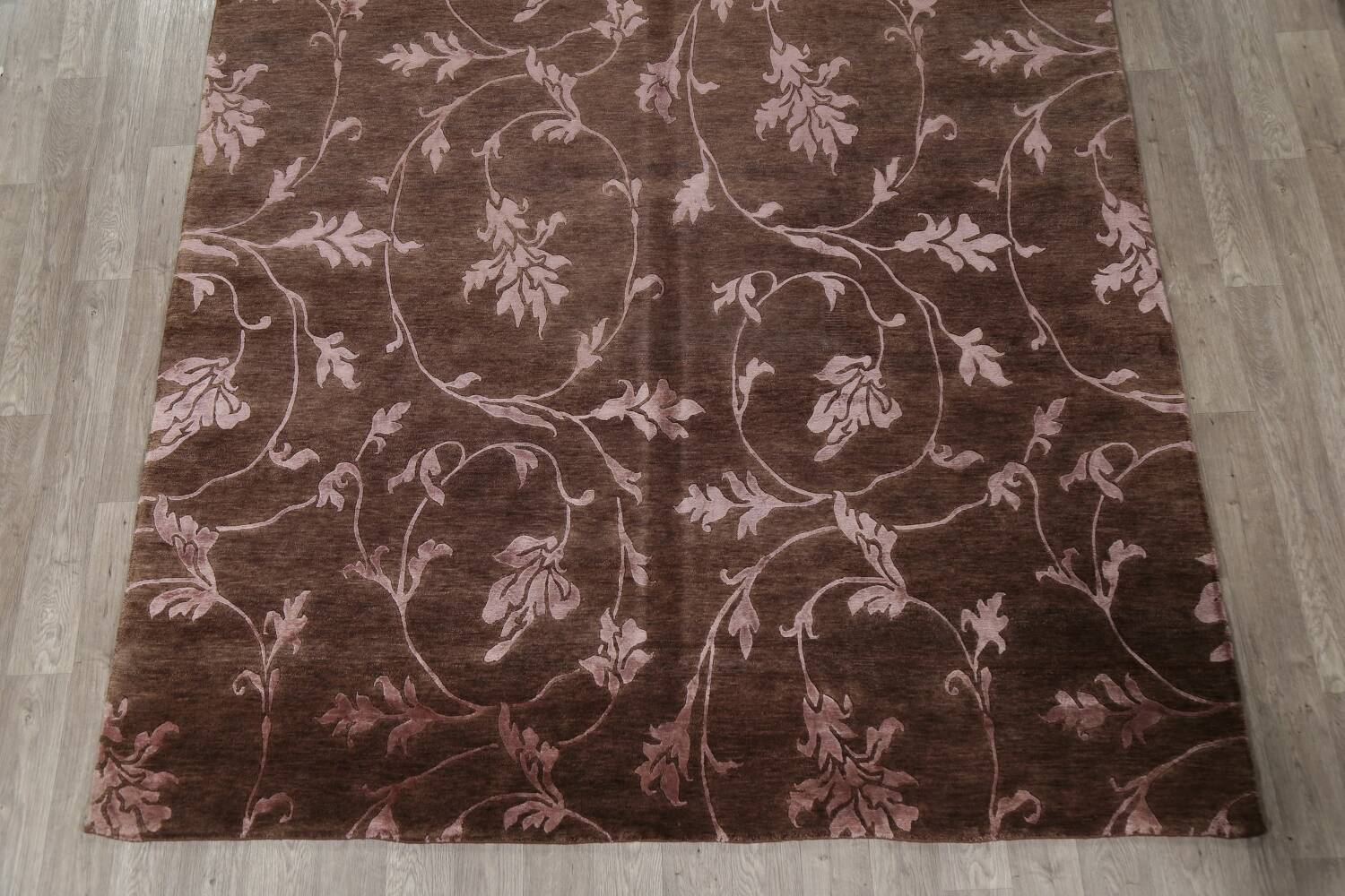 All-Over Floral Brown Art & Craft Oriental Area Rug 8x10 image 8