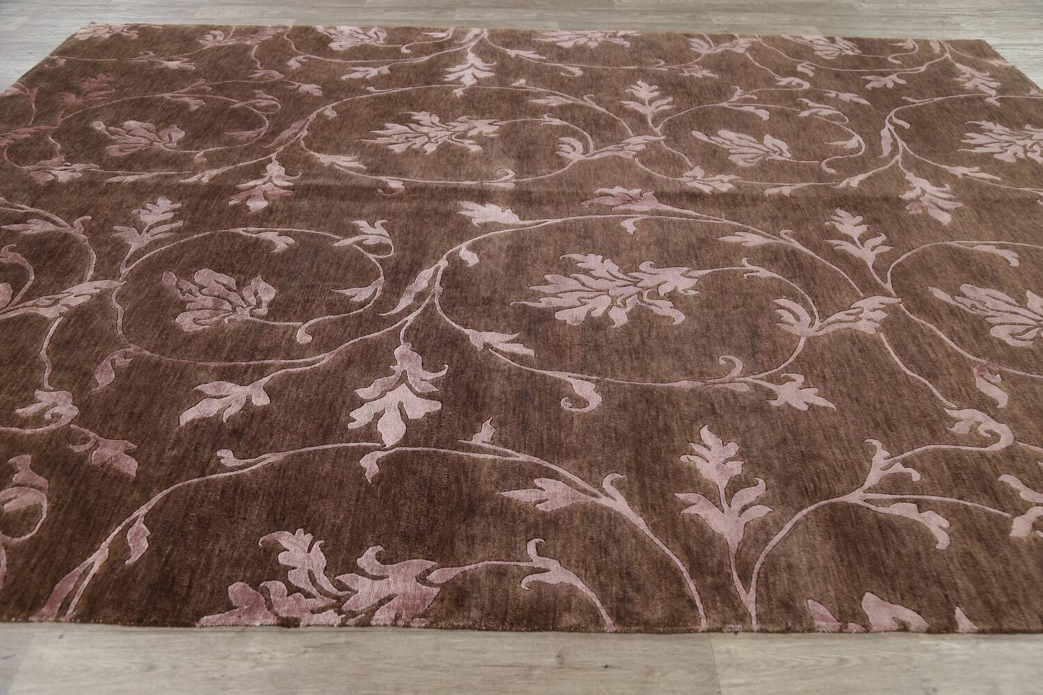 All-Over Floral Brown Art & Craft Oriental Area Rug 8x10 image 13