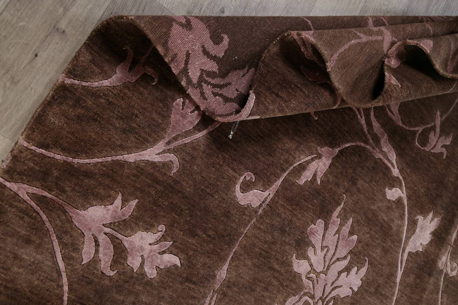 All-Over Floral Brown Art & Craft Oriental Area Rug 8x10 image 16