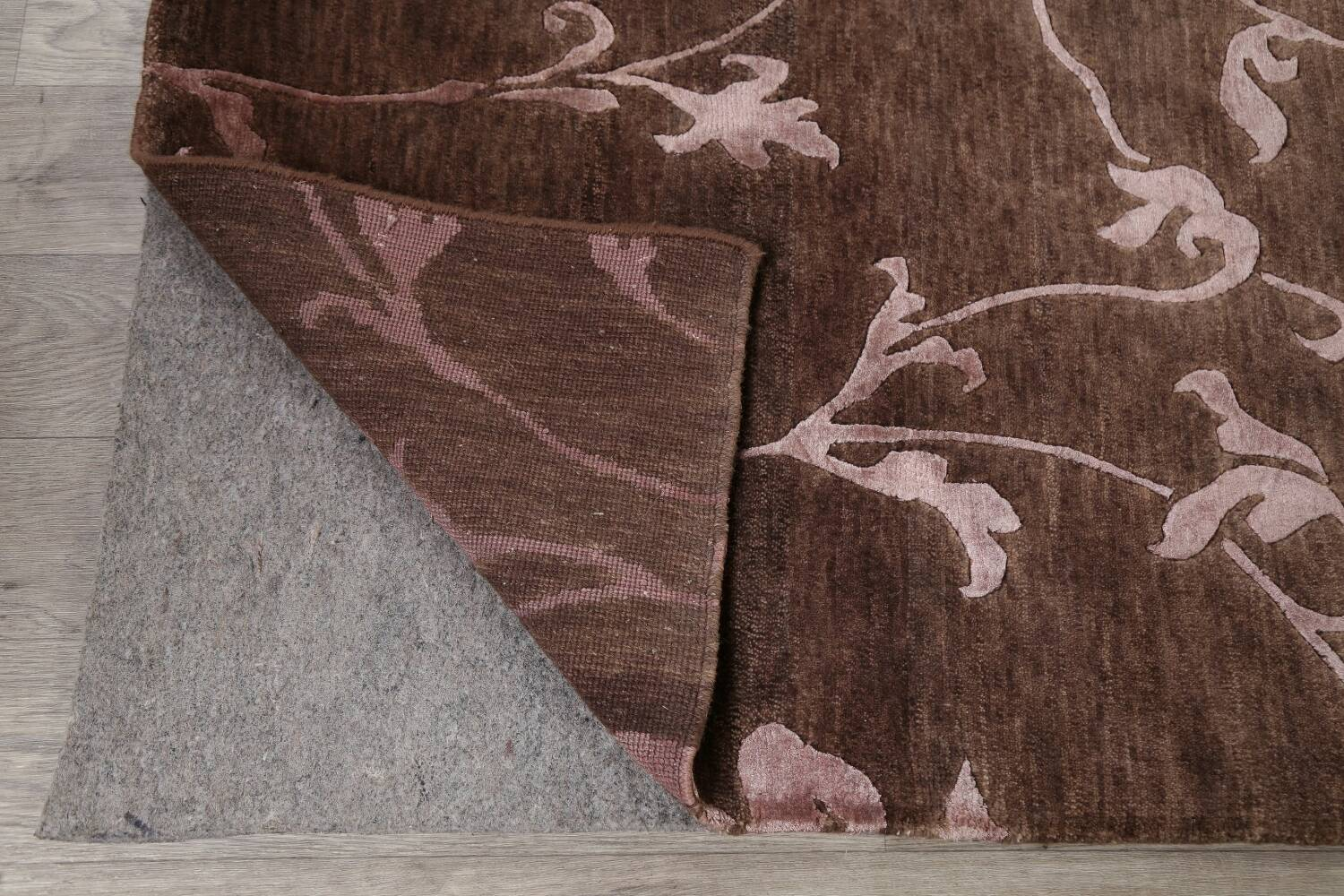All-Over Floral Brown Art & Craft Oriental Area Rug 8x10 image 7