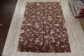 All-Over Floral Brown Art & Craft Oriental Area Rug 8x10 image 2