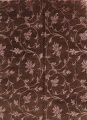All-Over Floral Brown Art & Craft Oriental Area Rug 8x10 image 1
