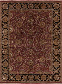 Floral Red Agra Oriental Area Rug 10x12