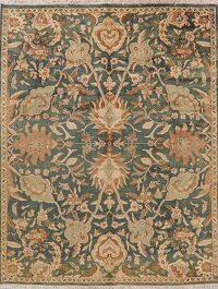 Floral Oushak Green Turkish Area Rug 8x10