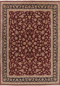 Floral Wool & Silk Aubusson Chinese Area Rug 9x12
