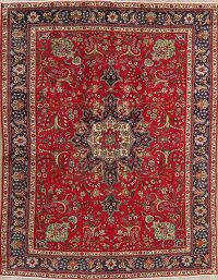 Floral Red Tabriz Persian Area Rug 8x11