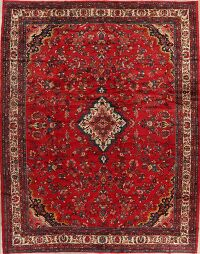 Large Vintage Floral Red Lilian Persian Area Rug 11x14