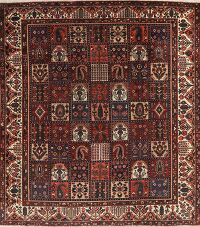 Antique Garden Design Bakhtiari Persian Area Rug 10x12