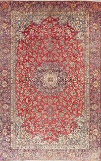 Vintage Floral Red Najafabad Persian Area Rug 8x13