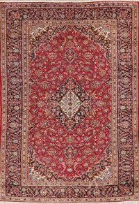 Floral Red Mashad Persian Area Rug 8x12