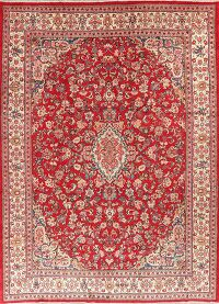 Vegetable Dye Vintage Floral Sarouk Persian Area Rug 10x14