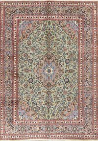 Green Floral Kashmar Persian Area Rug 8x11