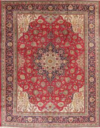Floral Wool Red Tabriz Persian Area Rug 10x13