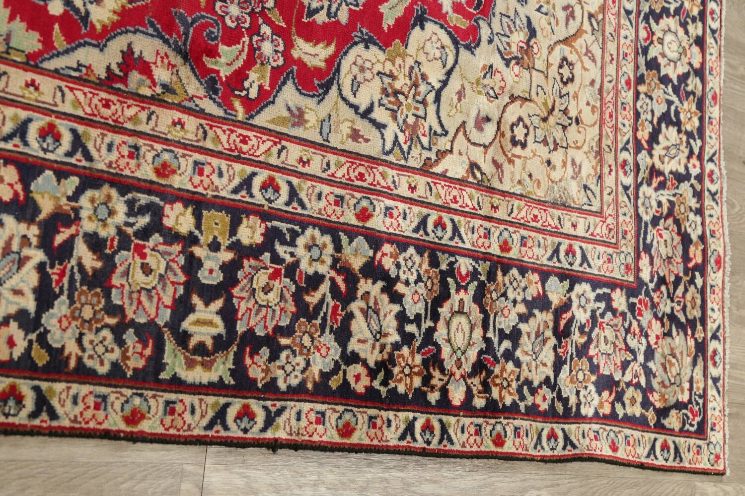 Vintage Floral Red Najafabad Persian Area Rug 8x12 image 16