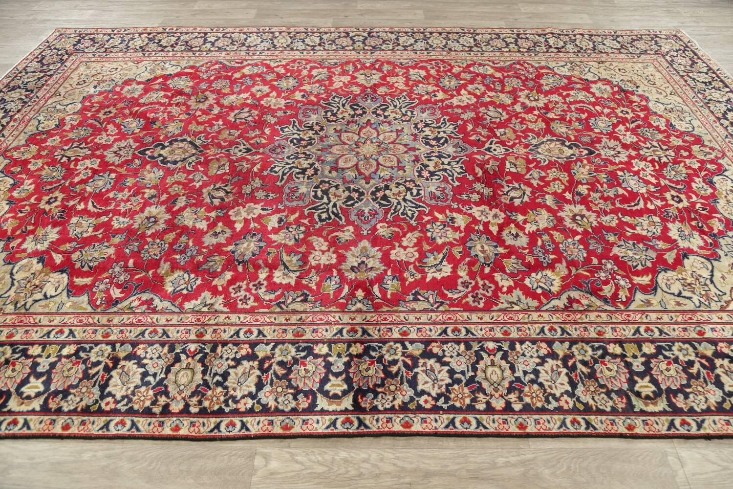 Vintage Floral Red Najafabad Persian Area Rug 8x12 image 17