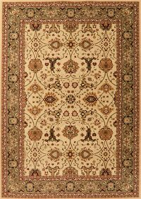 Floral Beige Turkish Classic Oriental Area Rug 8x11