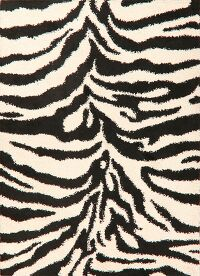 Animal Print Shaggy Turkish Oriental Area Rug 7x9