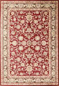 All-Over Floral Red Modern Oriental Area Rug 6x9
