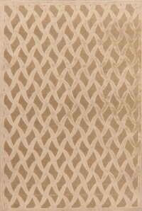 All-Over Waves Design Modern Oriental Area Rug 6x9
