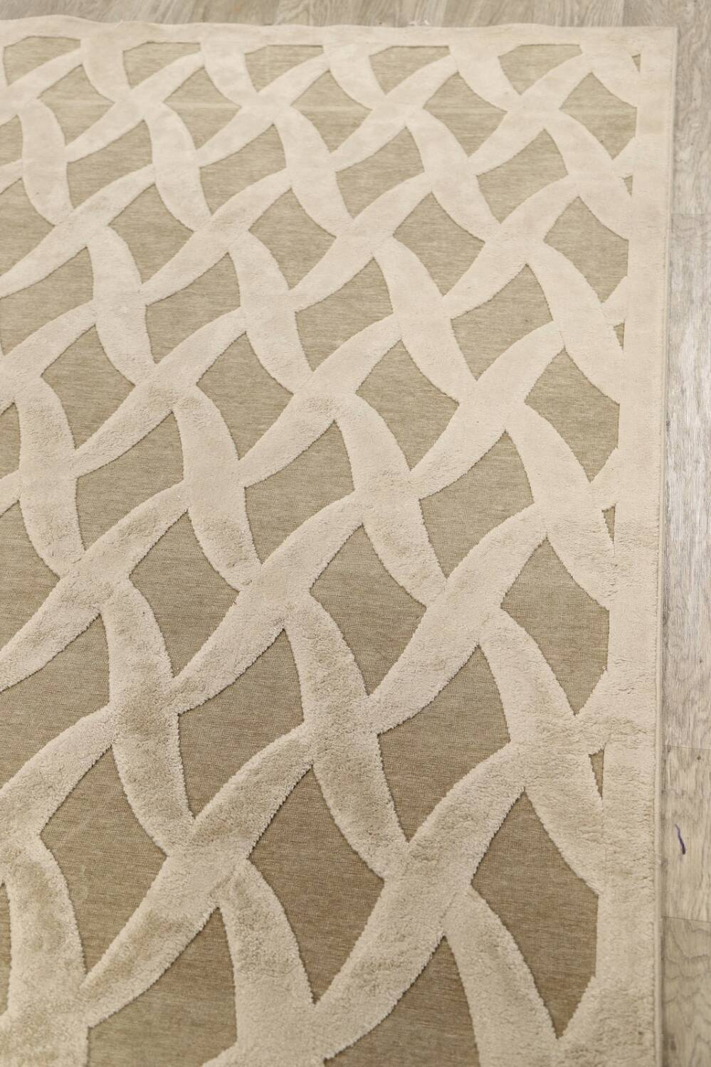All-Over Waves Design Modern Oriental Area Rug 6x9 image 10