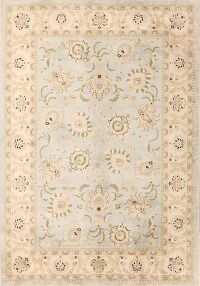 Light Blue Floral Modern Turkish Oriental Area Rug 6x10