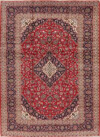 Floral Kashan Persian Red Area Rug 10x13