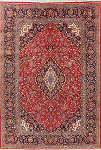 Floral Kashan Persian Red Area Rug 8x11