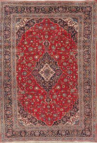 Floral Kashan Persian Red Area Rug 9x12