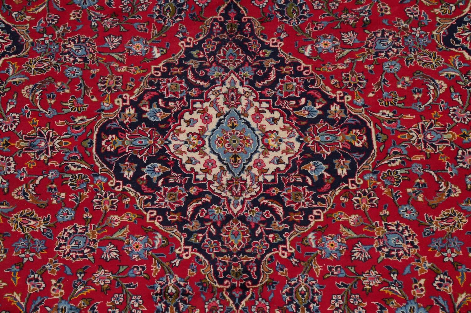 Traditional Floral Red Kashan Persian Area Rug 8x13 image 4