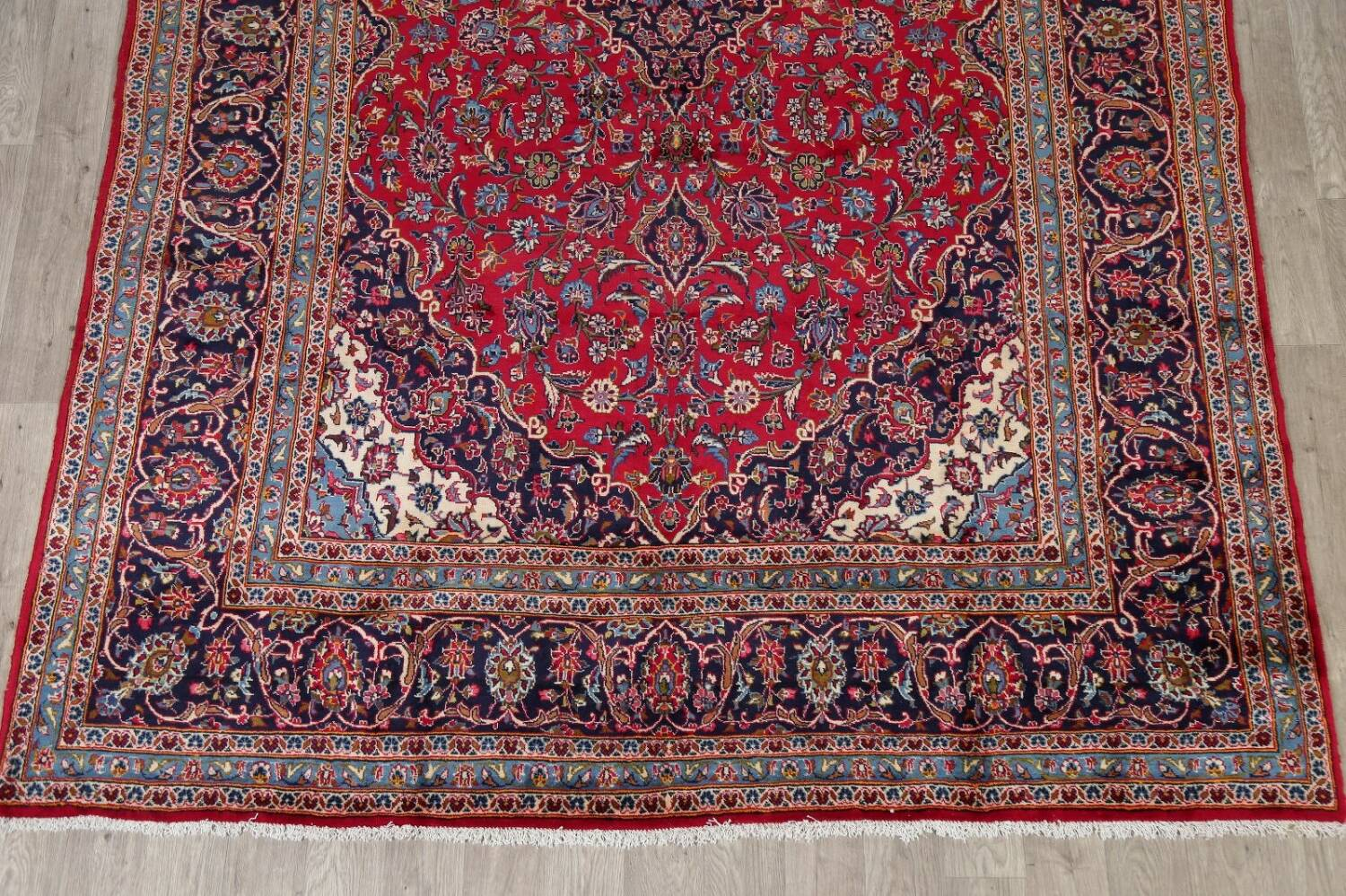 Traditional Floral Red Kashan Persian Area Rug 8x13 image 8