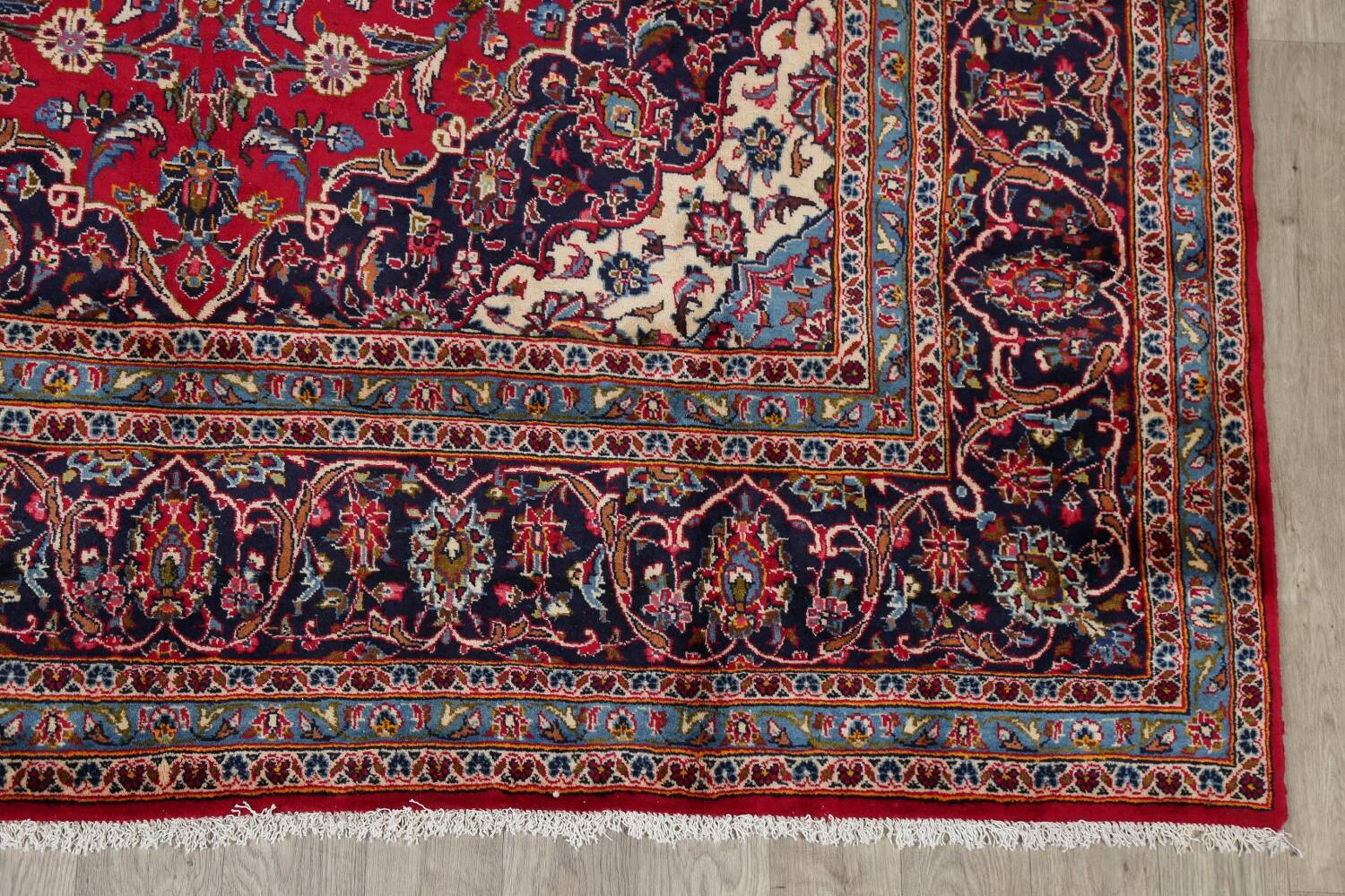 Traditional Floral Red Kashan Persian Area Rug 8x13 image 5