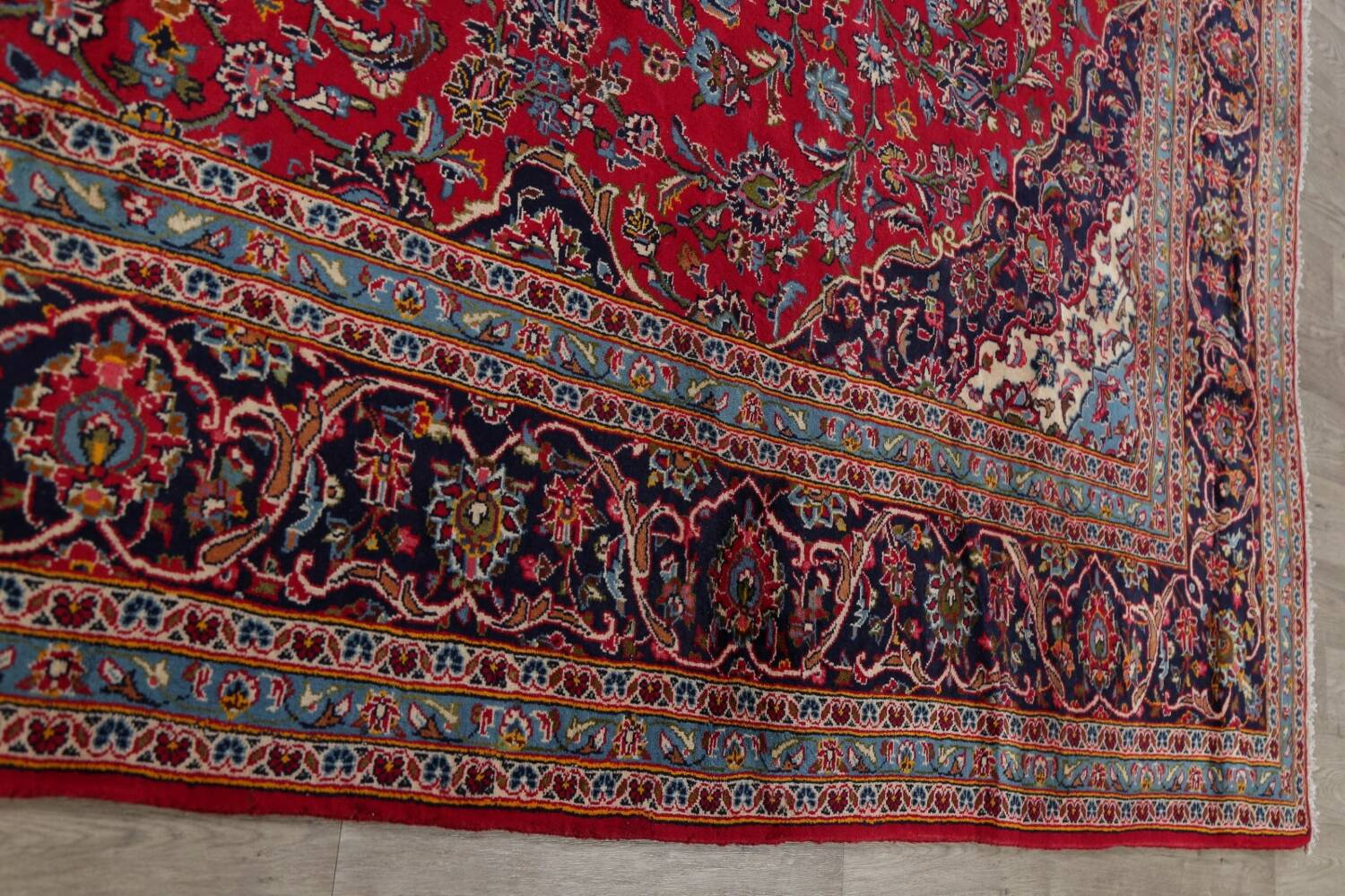 Traditional Floral Red Kashan Persian Area Rug 8x13 image 14