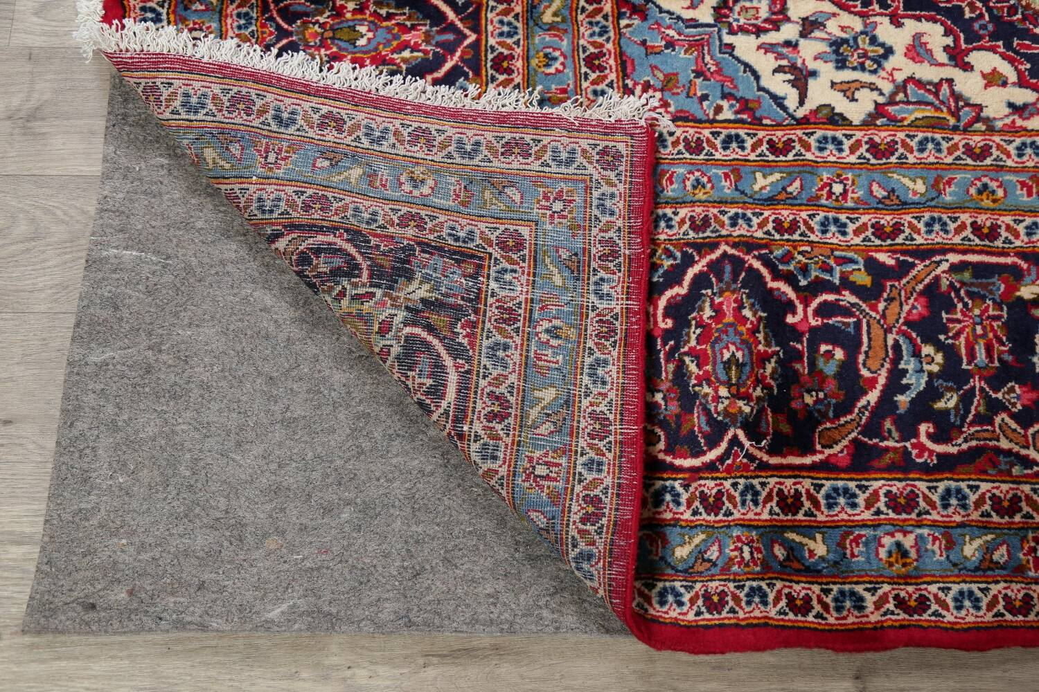 Traditional Floral Red Kashan Persian Area Rug 8x13 image 7