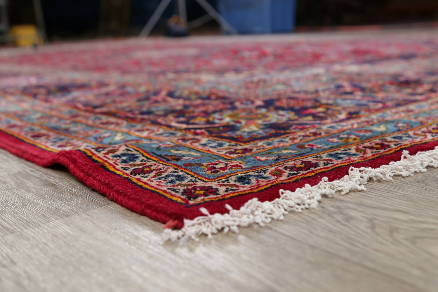 Traditional Floral Red Kashan Persian Area Rug 8x13 image 6