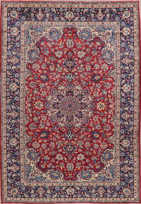 Vintage Floral Red Najafabad Persian Area Rug 8x11